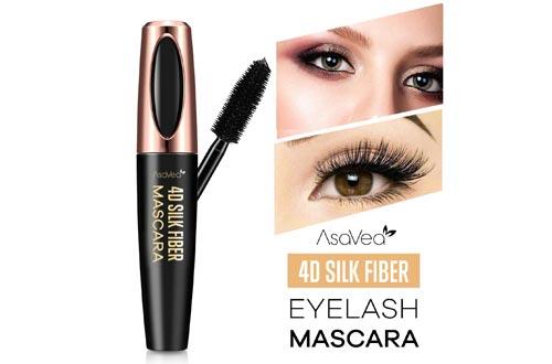 Natural 4D Silk Fiber Lash Mascara, Lengthening and Thick, Long Lasting, Waterproof & Smudge