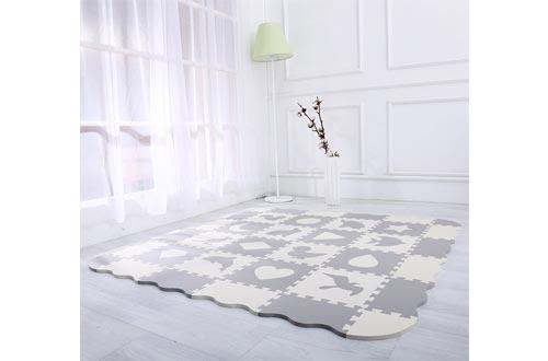 Superjare 36 Pieces Baby Play Mat, 0.56 Inch Thick Interlocking Foam Floor Tiles