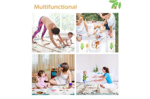 Bammax Play Mat, Folding Mat Baby Crawling Mat Kids Playmat Waterproof Non Toxic for Babies