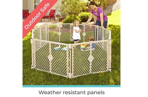 Toddleroo by North States Superyard 8-Panel Play Yard: Safe play area anywhere - Folds up with carrying strap for easy travel