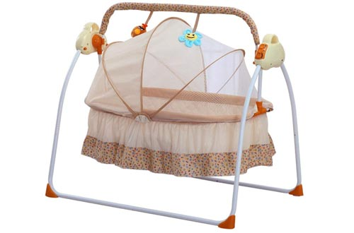 TFCFL WSD&Co Baby Cradle Swing Big Space Electric Automatic Baby Swings for Infants Indoor&Outdoor Outside with Dolls, Music