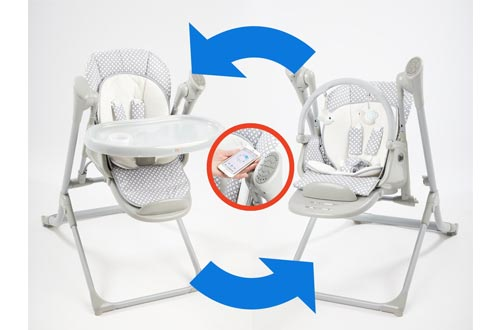 Primo 2-in-1 Smart Voyager Convertible Infant Swing and High Chair with Bluetooth