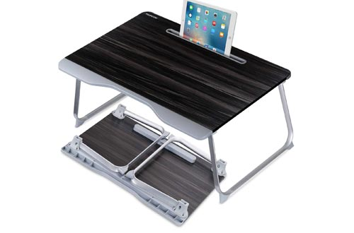 Laptop Desk for Bed, NEARPOW Laptop Bed Tray Table, Portable Folding Laptop Stand