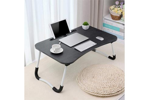 Small Desk Home Bedroom Multipurpose Tabletop, Large Bed Tray Foldable Portable Multifunction Laptop Desk Lazy Laptop Table for Student Dormitory Younger