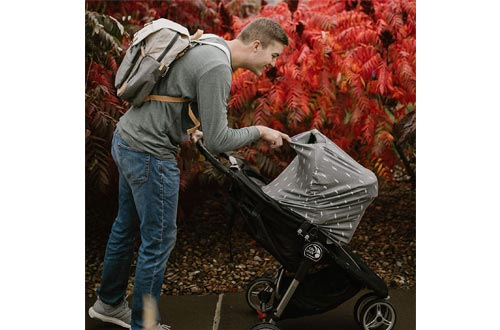 Parker Baby 4 in 1 Car Seat Cover for Girls and Boys - Stretchy Carseat Canopy, Nursing Cover, Grocery Cart Cover, High Chair Cover