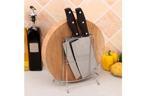 XMZFQ Stainless Steel Knife Stand Multifunctional Cutting Board Holder Kitchen Utensil Rack Non-Slip Drying Rack Display Racks