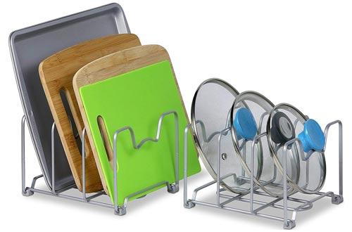 SimpleHouseware Kitchen Cabinet Pantry and Bakeware Organizer Rack Holder