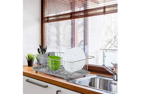 WHITGO Dish Drying Rack with Drain Board