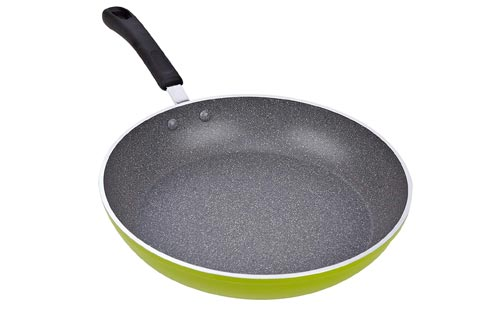 Cook N Home 02404 12-Inch Frying Pan with Non-Stick Coating Induction Compatible Bottom