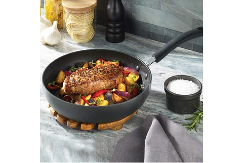 T-fal E76598 Ultimate Hard Anodized Nonstick 12 Inch Fry Pan with Lid, Dishwasher Safe Frying Pan