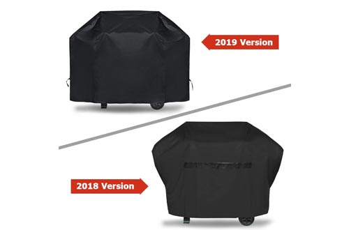iCOVER BBQ Grill Cover - 60 inch Heavy Duty Barbeque Gas Grill Cover 600D Canvas Waterproof No Fading Smoker Covers