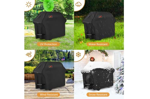 Homitt Gas Grill Cover, 58-inch 3-4 Burner 600D Heavy Duty Waterproof BBQ Cover