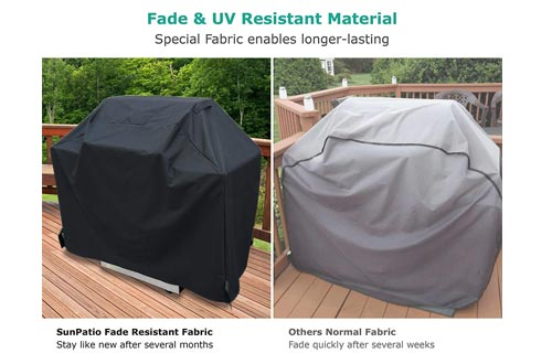 SunPatio Barbecue Grill Cover 65 Inch, Outdoor Heavy Duty Waterproof Charcoal Gas Grill Cover