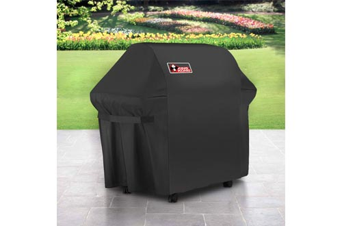 Kingkong Gas Grill Cover 7553 | 7107 Cover for Weber Genesis E and S Series Gas Grills Includes Grill Brush