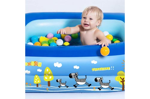WEY&FLY Aquarium Inflatable Swim Pool, Blow up Kiddie Pool for Family