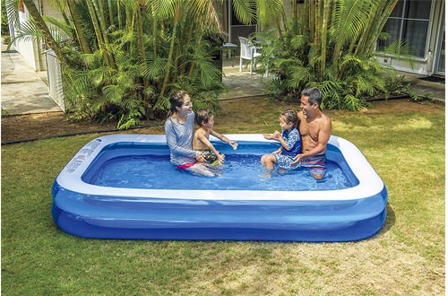 Giant Inflatable Kiddie Pool - Family and Kids Inflatable Rectangular Pool