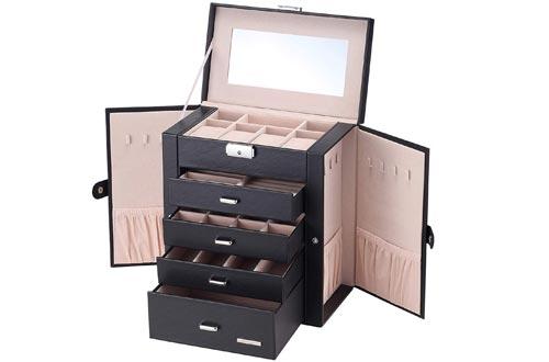Homde Huge Jewellery Boxes Lockable Gift Case