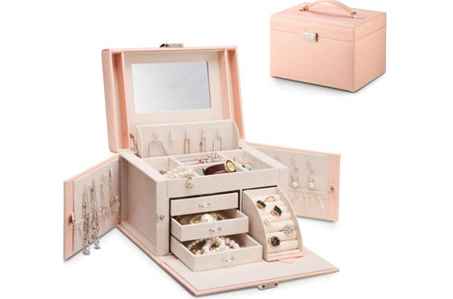 Vlando Faux Leather Jewellery Boxes for Women
