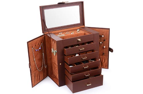 Kendal Huge Jewelry Boxes Leather