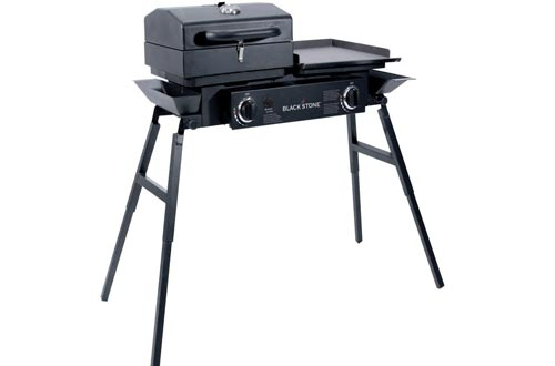 Blackstone Grills Tailgater – Portable Gas Grill and Griddle Combo