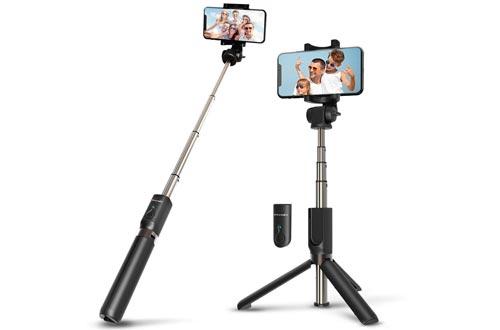BlitzWolf Selfie Stick Bluetooth, Extendable Selfie Stick Tripod