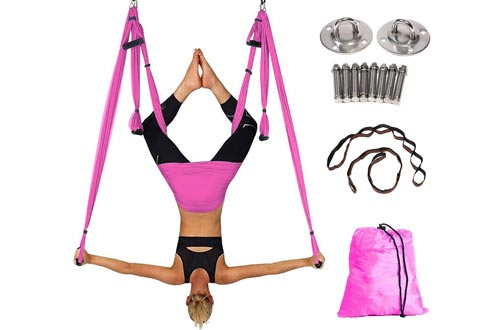 Hans & Alice Aerial Yoga Swings with Adjustable Handles Extension Straps