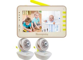 Video Baby Monitor 2 Cameras, Split Screen by Moonybaby