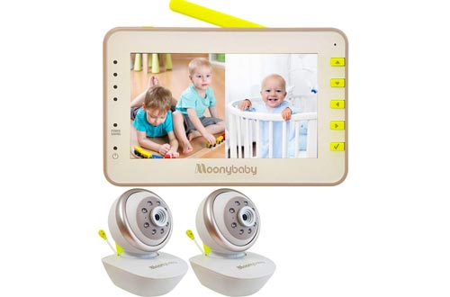 Video Baby Monitor 2 Cameras, Split Screen by Moonybaby