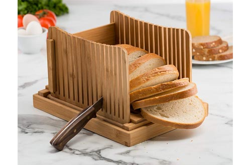 Bambusi Bamboo Bread Cutter for Homemade Bread