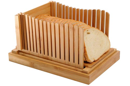 Bamboo Bread Slicers with Cutting Board For Homemade Bread