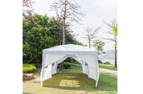 VINGLI 10X20 Feet Pop Up Canopy Tent Patio Event Gazebo Beach Tent