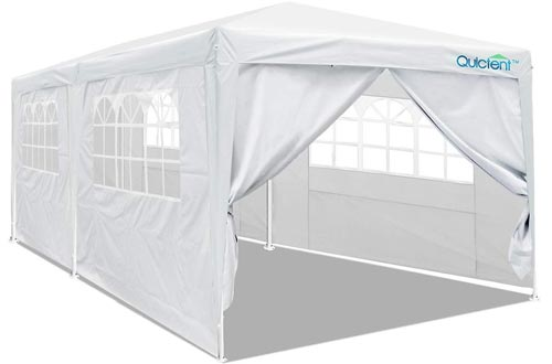 Quictent 10'x20' Party Tent with Removable Sidewalls & Elegant Church