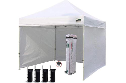 Eurmax Canopy Tent with 4 Removable Zipper End Side Walls