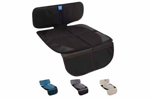 Funbliss Protector for Baby Child Car Seats - Auto Seat Cover Mat for Under Carseat with Thickest Padding to Protect Leather & Fabric Upholstery