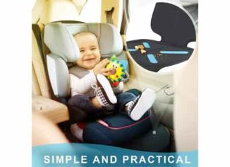Car Seat Protector for Baby Child Car Seats, Shynerk Auto Seat Cover Mat for Under Carseat to Protect Automotive Vehicle Leather and Cloth Upholstery - Waterproof and Dirt Resistant