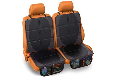FORTEM Seat Protector 2PK, Waterproof Backseat Thick Padding Cover for Car Seat, Protects Against Damage w/Bottom Storage