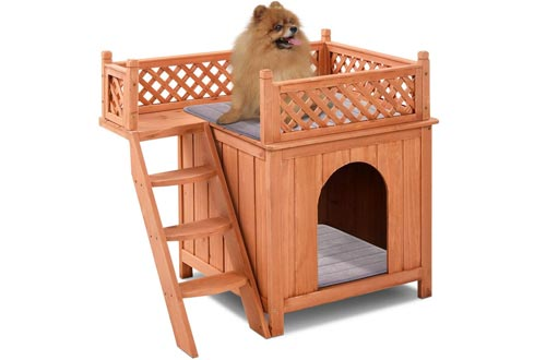 Giantex Pet Wooden Raised Roof Dog House