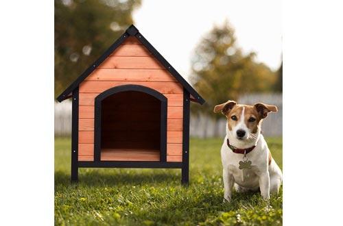 Tangkula Pet Outdoor Dog House Weather Waterproof