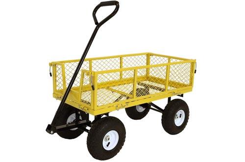 Sunnydaze Utility Steel Garden Cart