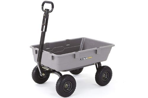 Gorilla Carts Steel Frame Poly Garden Cart