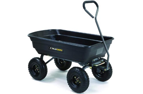 Gorilla Carts GOR4PS Poly Garden Cart