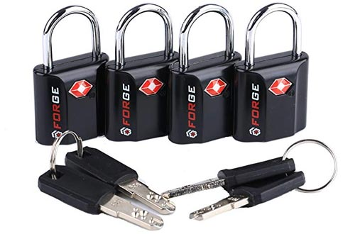 Black TravelMore 10 Pack TSA Approved Travel Combination Cable Luggage Locks for Suitcases
