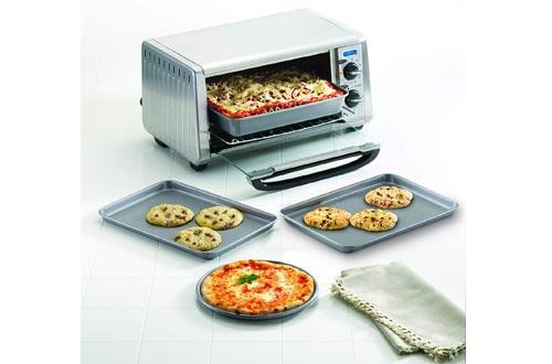 Farberware 57775 Non stick Bakewares Toaster Oven Set with Nonstick Baking Pans