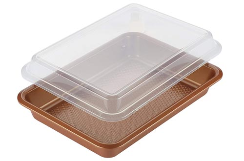 Ayesha Curry 47004 Non stick Bakewares Nonstick Baking Pan With Lid