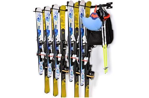 XSOURCE Ski Snowboard Wall Rack Holds 10 Pairs