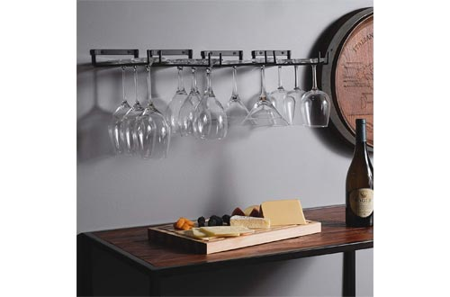Wallniture Chiraz Wall Mountable Glass Rack