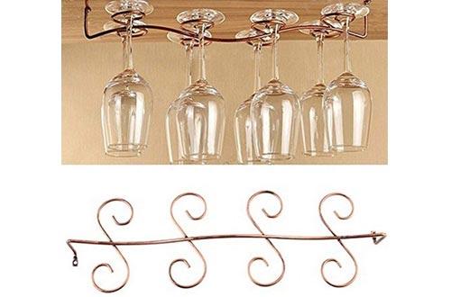 Buytra Wine Glass Racks Under Cabinet Stemware Holder for Home Bar
