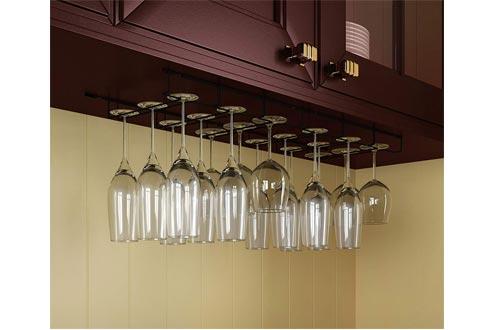 Wallniture Wine Glass Racks Hanger Under Cabinet Kitchen Bar