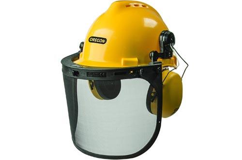 Oregon 563474 Chainsaw Safety Protective Helmet With Visor Combo Set (Renewed)
