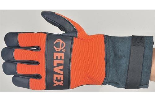 Cowhide Leather Palm Gloves, Suede Gauntlet Cuff, Prolar, Blue/Orange, Medium